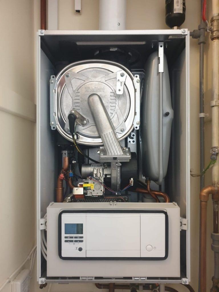 Inside a vaillant boiler repair